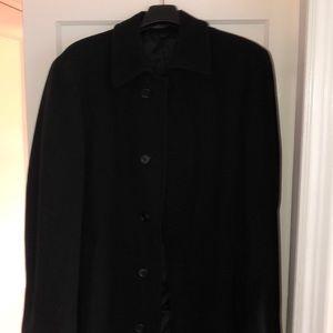 Men's Top Coat / Pea Coat - black